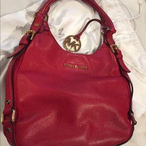 Red Michael Kors bag - great shape!